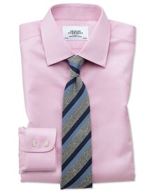 Extra slim fit non iron puppytooth light pink shirt