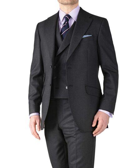 Charcoal classic fit British Panama luxury suit jacket