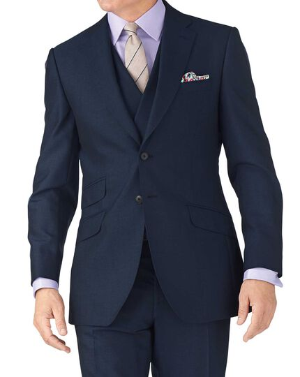 Blue slim fit British Panama luxury suit jacket