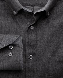 Slim fit grey washed Oxford shirt