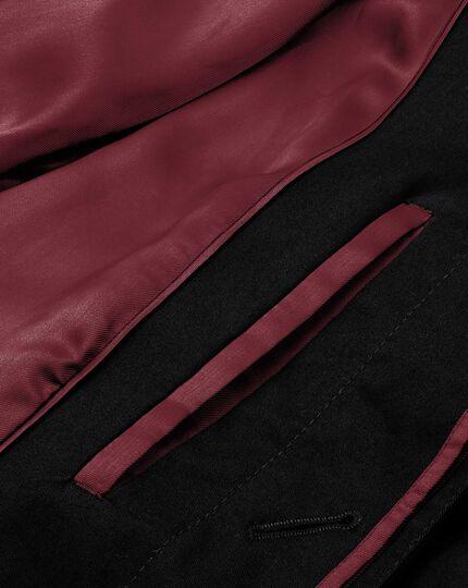 Classic fit black raincoat
