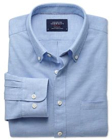Slim fit sky chambray shirt