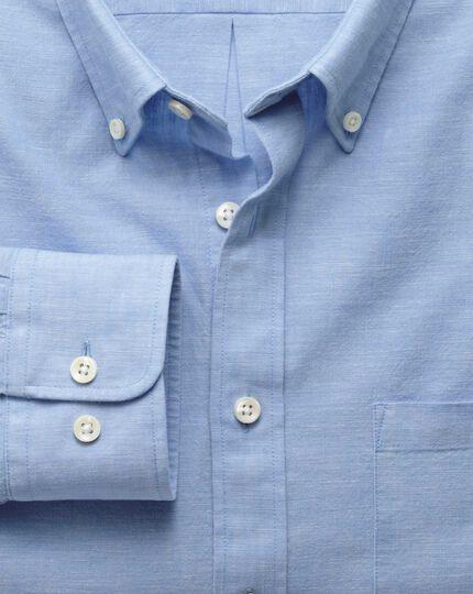 Slim fit sky blue chambray shirt