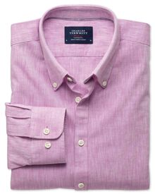 Extra slim fit pink chambray shirt