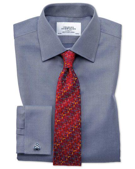 Classic Fit Kavallerie-Twill Hemd aus ägyptischer Baumwolle in Marineblau