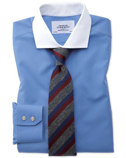 Slim fit cutaway collar non-iron Winchester blue shirt