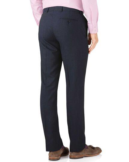 Navy stripe slim fit summer business suit trouser