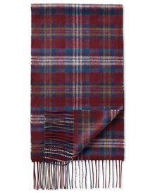 Multi tartan cashmere and merino scarf