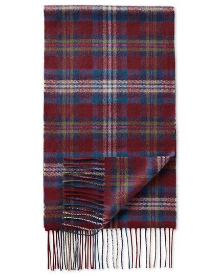 Schal aus Kaschmir / Merinowolle in bunt mit Schottenkaro
