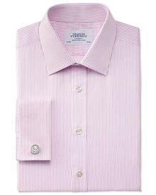 Extra slim fit Bedford raised stripe pink shirt