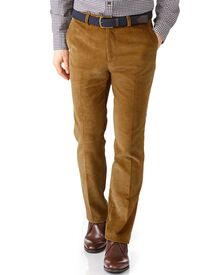 Yellow extra slim fit jumbo cord trouser