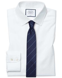 Extra slim fit non-iron twill white shirt