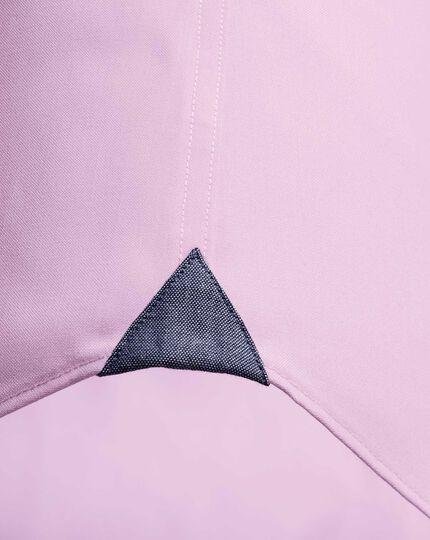 Bügelfreies Slim Fit Business-Casual Hemd mit Button-down Kragen in HellRosa
