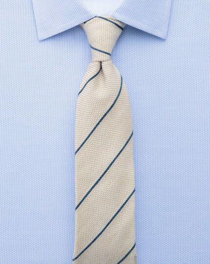 Classic fit Egyptian cotton diamond texture sky blue shirt