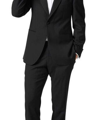 Black classic fit peak lapel tuxedo suit