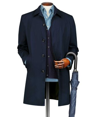Navy cotton raincoat