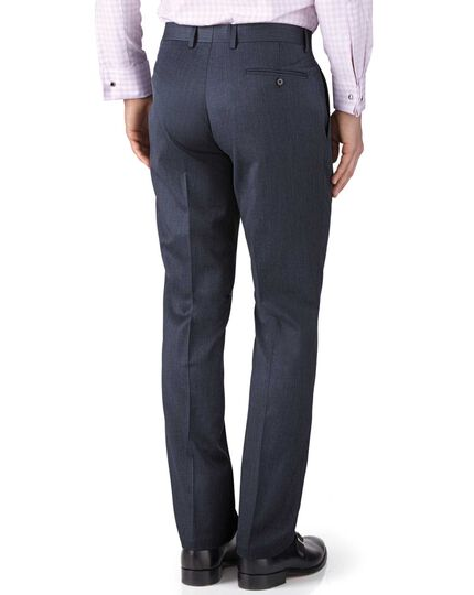 Airforce blue classic fit twill business suit pants
