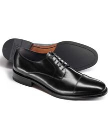 Black Selby toe cap Derby shoes