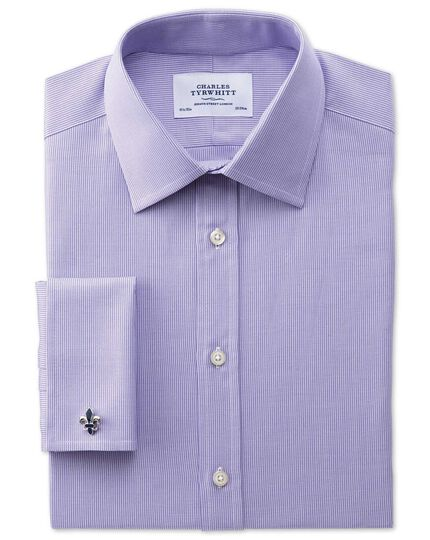 Extra slim fit Oxford lilac shirt