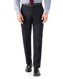Navy classic fit hairline business suit pants