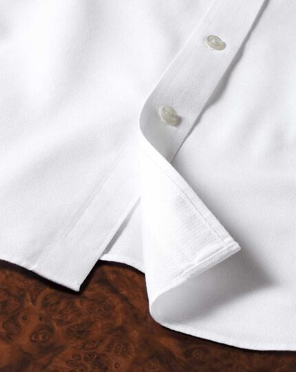 Classic fit non iron imperial weave white shirt