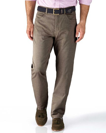 Stone classic fit 5 pocket textured dobby pants