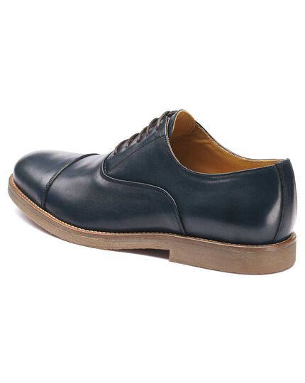 Navy Highbury toe cap Oxford shoes