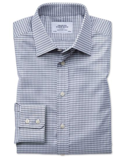 Slim fit large puppytooth light grey shirt