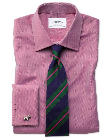 Slim Fit Royal Oxfordhemd aus ägyptischer Baumwolle in Magenta