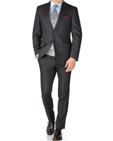 Grey slim fit saxony business suit