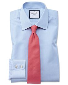 Extra slim fit non-iron bengal stripe sky blue shirt