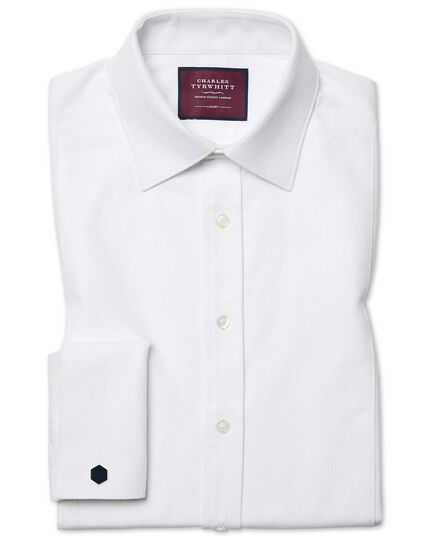 Classic fit luxury marcella white tuxedo shirt