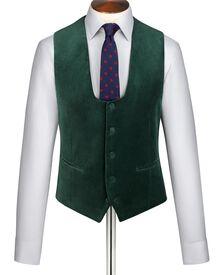 Green velvet vest
