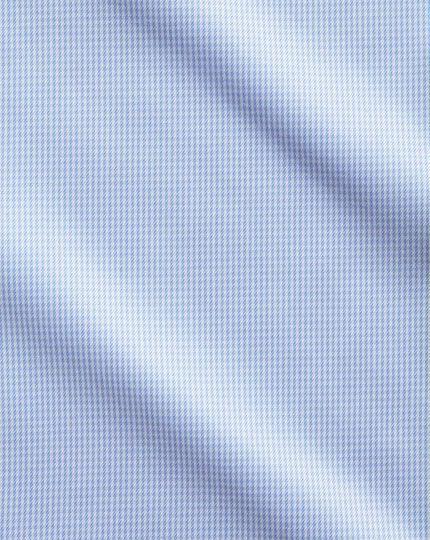 Bügelfreies Slim Fit Hemd in Himmelblau mit Hahnentritt