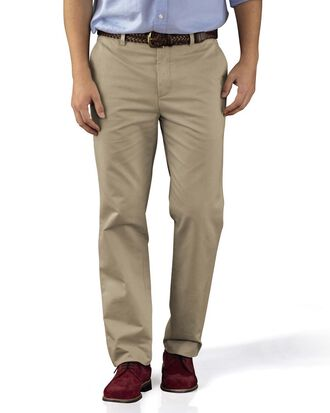 Slim Fit Chino Hose ohne Bundfalte in Leichtgrau