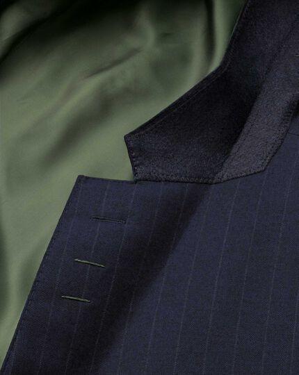 Slim Fit Saxony-Businessanzug Sakko in marineblau mit Streifen