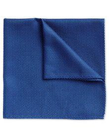Royal blue silk classic pocket square