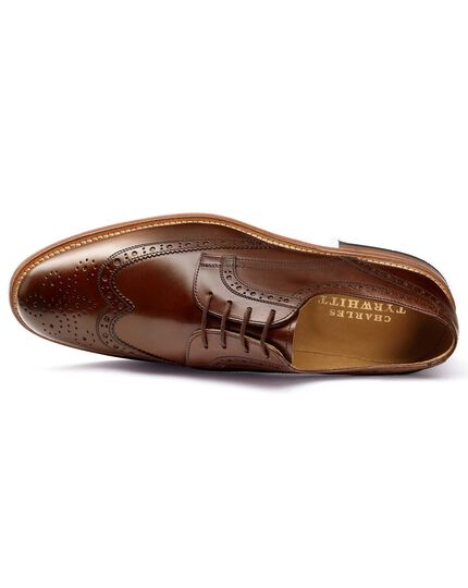 Brown Medlyn wing tip brogue Derby shoes