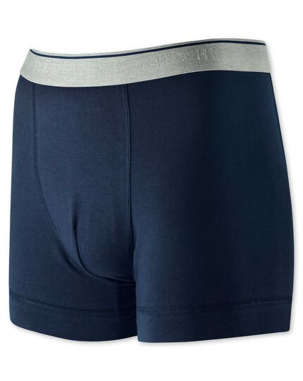 Navy jersey trunks