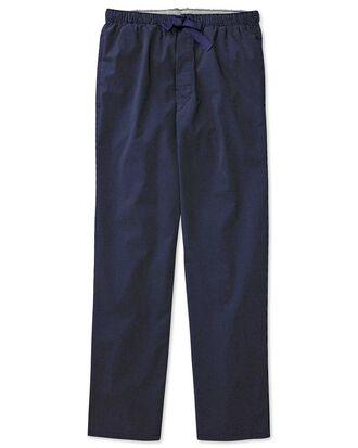 Navy dot cotton pyjama trousers