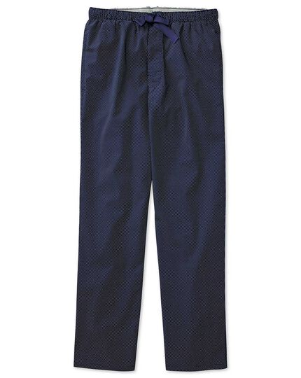 Navy dot cotton pyjama pants
