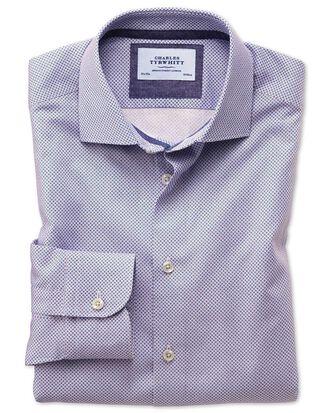 Classic Fit Business-Casual Hemd in Rot und Blau mit Motiv-Print