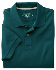 Piqué Poloshirt in Grün