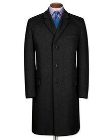 Slim Fit Mantel aus Wolle / Kaschmir in anthrazit