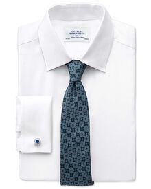 Slim Fit Hemd aus beidseitiger Pima-Baumwolle in Weiß