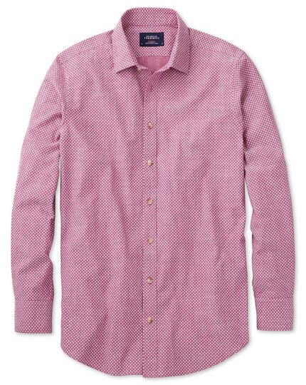 Extra slim fit berry red and white spot print shirt