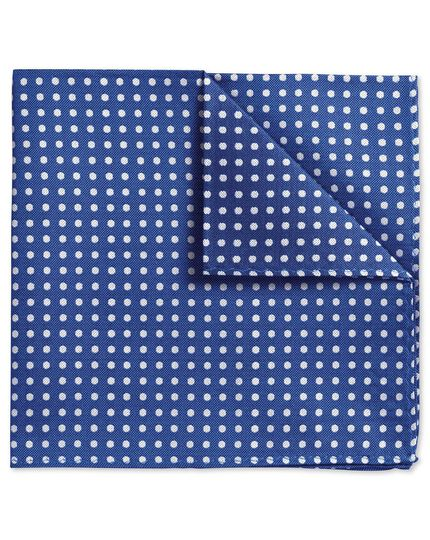 Blue Oxford spot classic pocket square