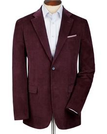 Grape classic fit cord unstructured jacket
