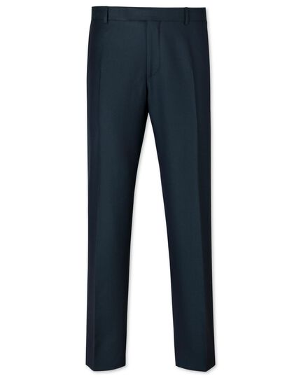 Dark green slim fit British luxury suit trousers