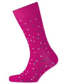 Pink multi spot socks